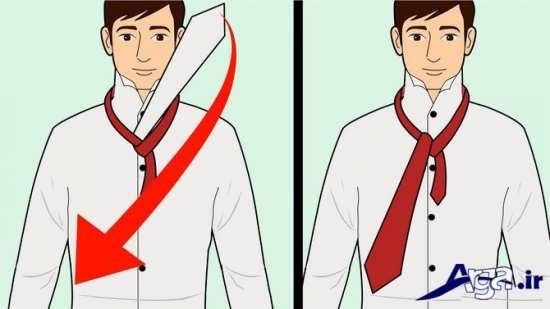 آموزش بستن کراوات به صورت گره ویندسور