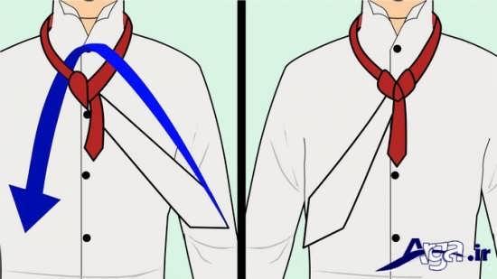 مراحل بستن کراوات با 4 گره مختلف