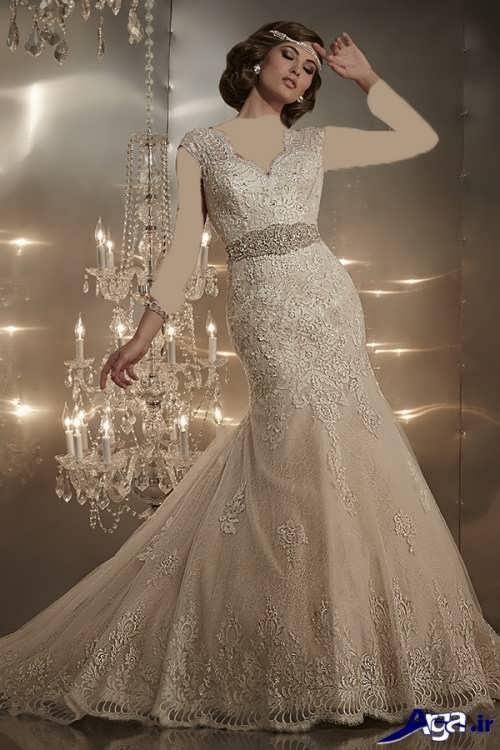 مدل لباس عروس گیپور ایرانی