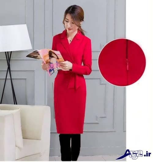مدل پیراهن آستین دار کره ای