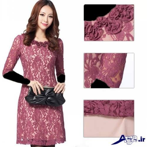 مدل لباس مجلسی گیپور کره ای