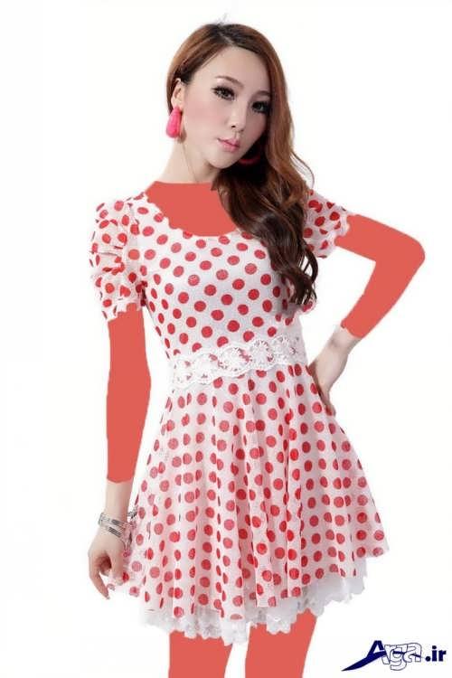 مدل پیراهن کره ای کوتاه زنانه