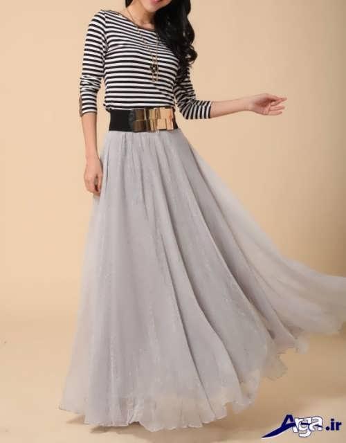 دامن بلند با طراحی زیبا