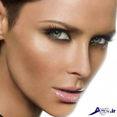 مدل آرایش برای پوست سبزه و صورت لاغر