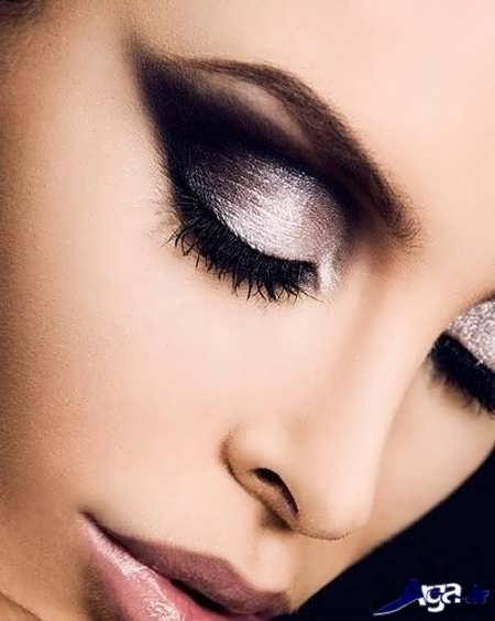 مدل آرایش چشم برای افراد با صورت لاغر