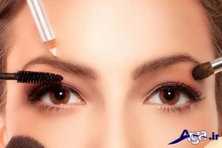 نحوه آرایش چشم و ابرو برای صورت لاغر