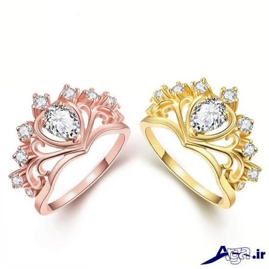 مدل های انگشتر طلا زنانه با طرح نگین دار