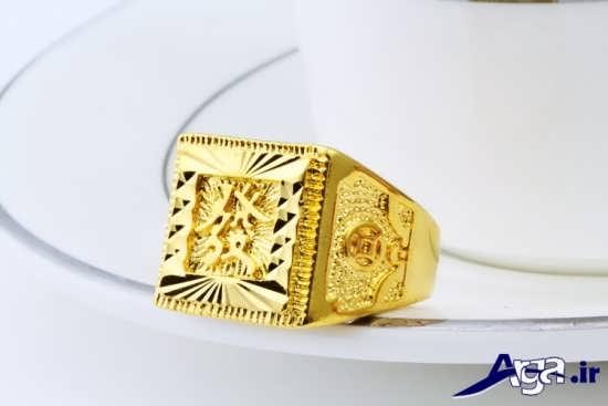 انگشتر مردانه زیبا طلا