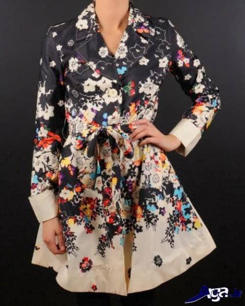 مدل مانتو گلدار دخترانه