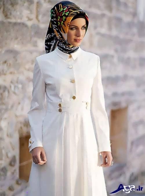 مانتو زنانه سفید