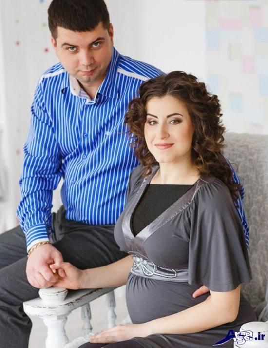 ژست عکس حاملگی با همسر