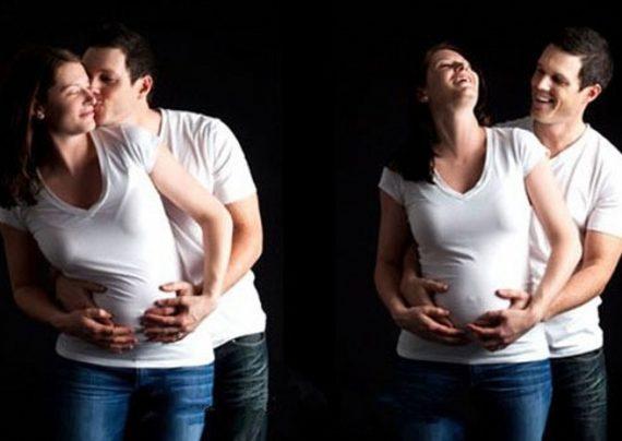 ژست عکس بارداری جدید
