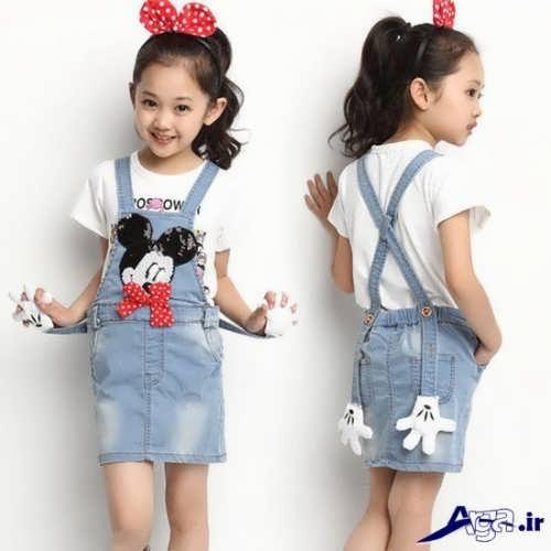 مدل سارافون لی بچه گانه با طرح عروسکی