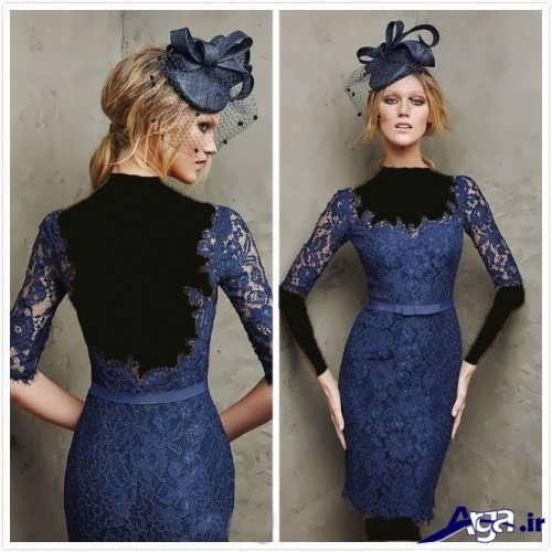مدل لباس شب کوتاه گیپور
