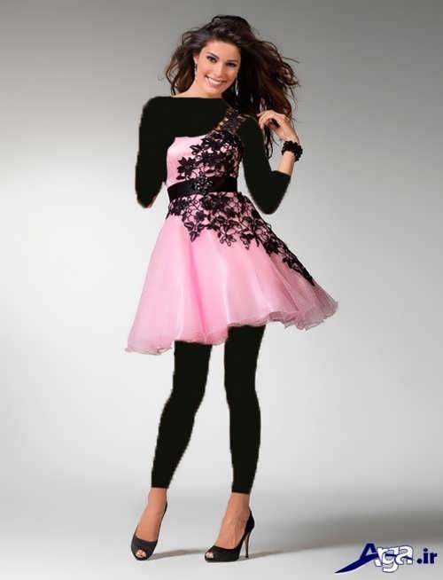 مدل لباس شب زیبا و کوتاه