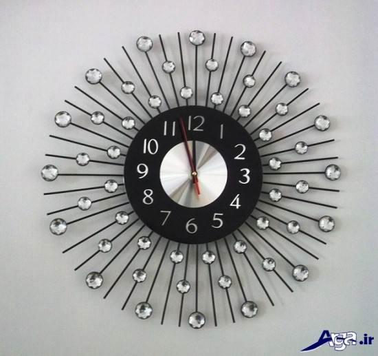 ساعت دیواری مدرن نگین دار