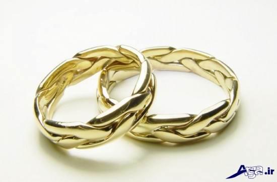 مدل حلقه ازدواج طلایی