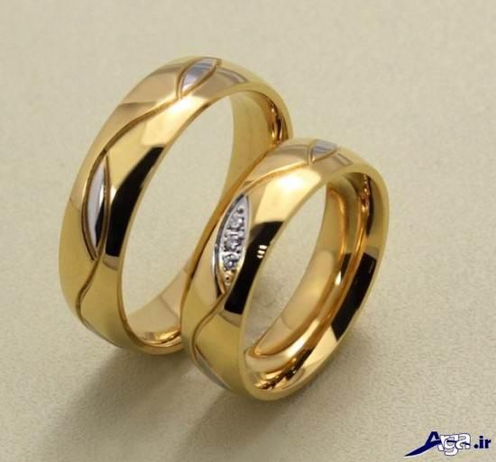 حلقه ازدواج طلایی ست