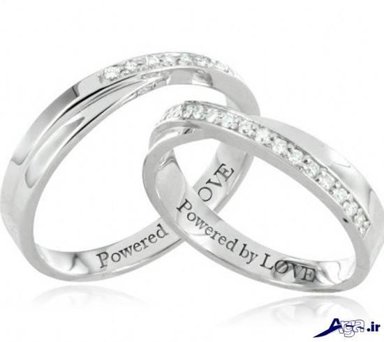حلقه ازدواج طلا سفید جدید