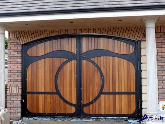 درب حیاط چوبی
