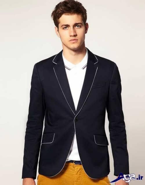 مدل کت تک مردانه با رنگ تیره