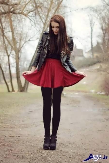 مدل دامن کلوش قرمز