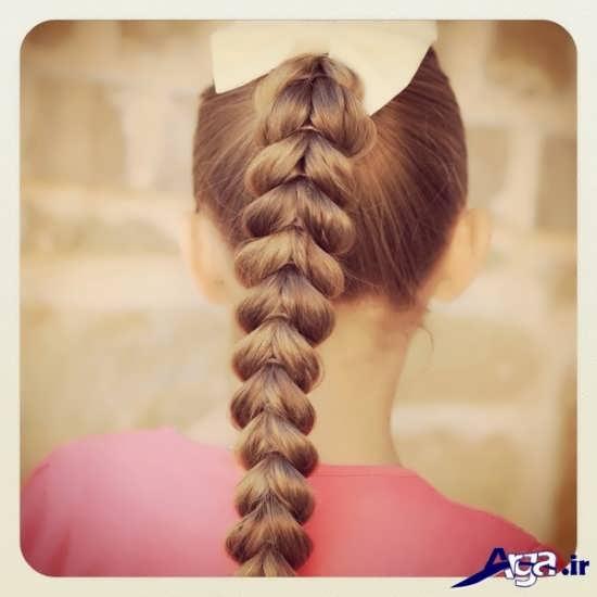 بافت مو ساده و سنتی