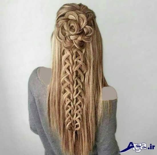 بافت مو با طرح گل