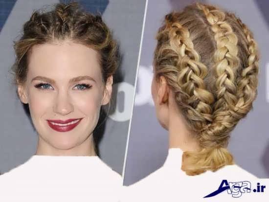 مدل بافت مو برای موهای بند و کوتاه