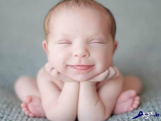 عکس خنده دار بچه بامزه