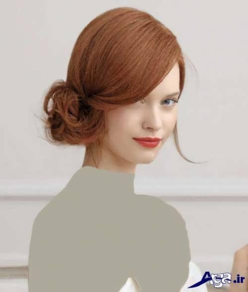مدل شینیون زیبا و متفاوت