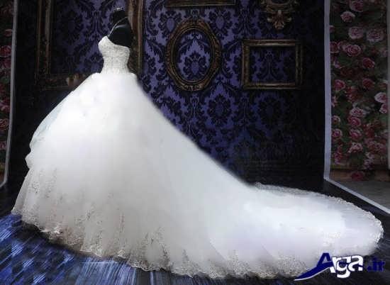مدل لباس عروس دنباله دار ایرانی