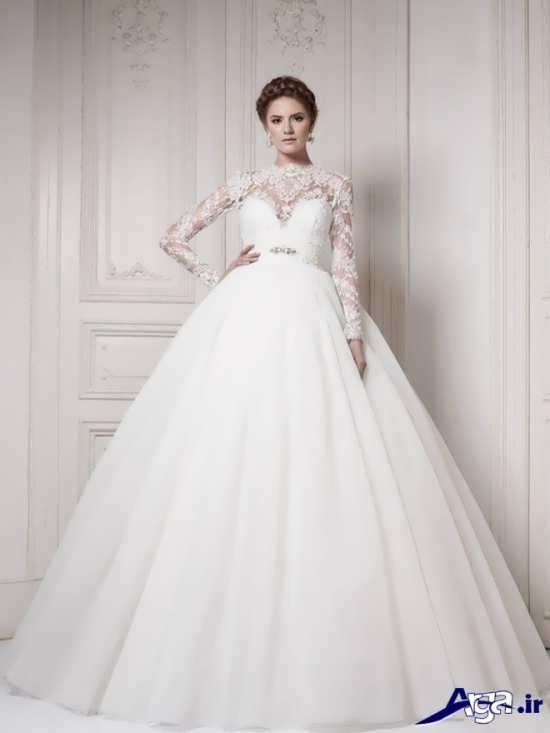 لباس عروس پفی زیبا