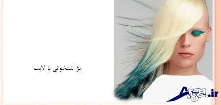 رنگ موی بژ استخوانی