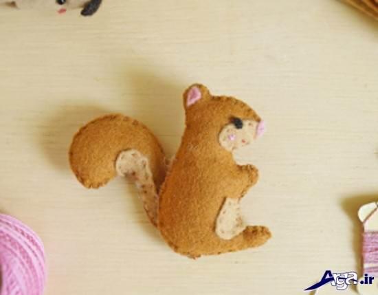 عروسک سنجاب نمدی