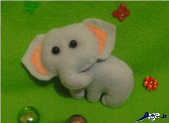 دوخت عروسک فیل با نمد