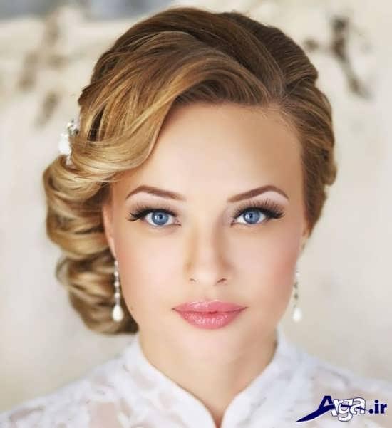 مدل آرایش عروس اروپایی