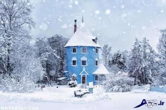 عکس طبیعت زیبای برفی