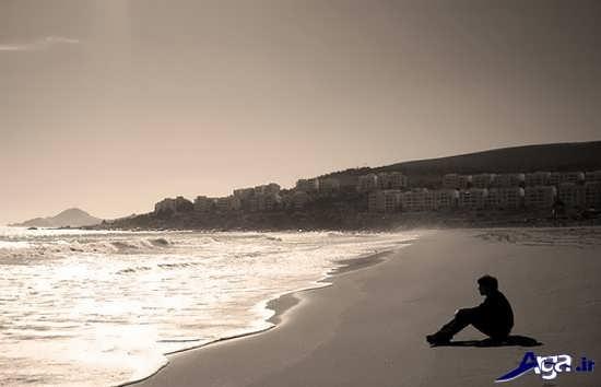 عکس پسر تنها کنار دریا