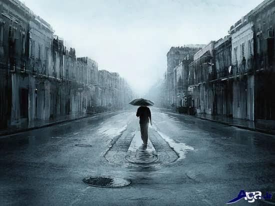 عکس پسر تنها در خیابان