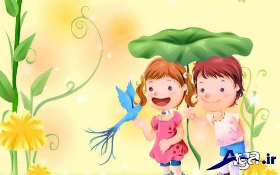 عکس کارتونی دو نفره عاشقانه