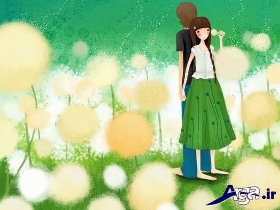 عکس های دو نفره عاشقانه کارتونی
