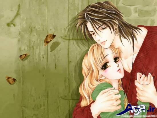 عکس کارتونی آغوش عاشقانه