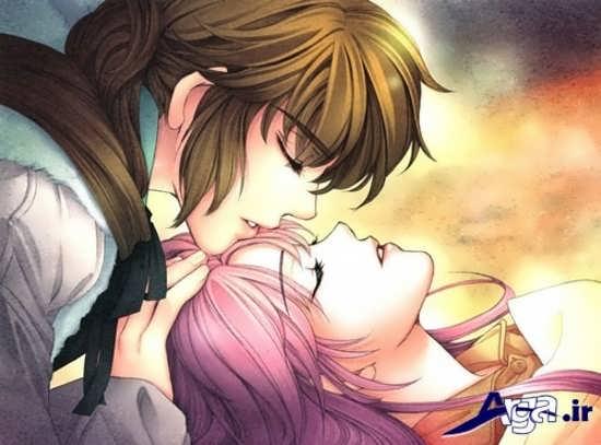 عکس های بوسه عاشقانه کارتونی