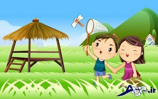 عکس دختر و پسر عاشقانه کارتونی