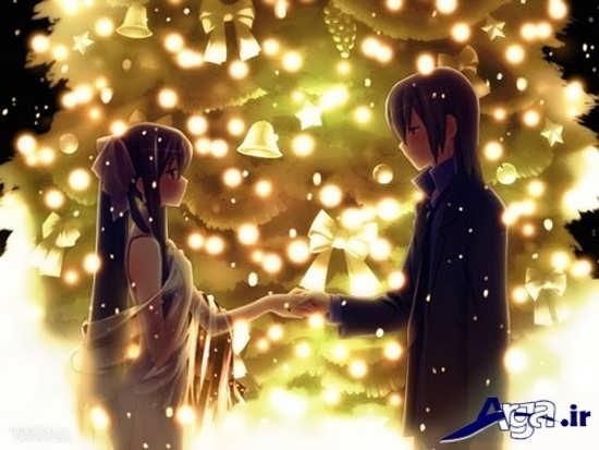 عکس کریسمس عاشقانه کارتونی