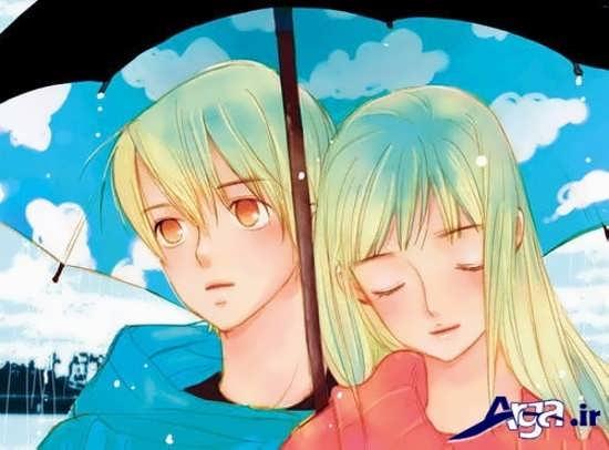 عکس کارتونی غمگین عاشقانه