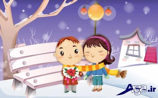 عکس فوق العاده زیبا کارتونی عاشقانه