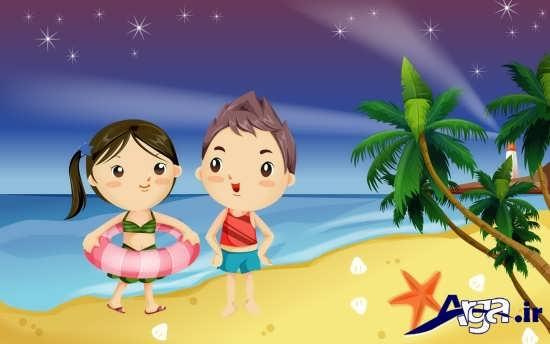 عکس کارتونی عاشقانه دختر و پسر