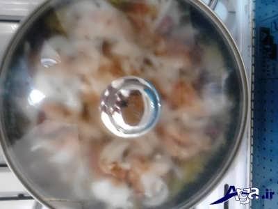 پختن گوشت با پیاز